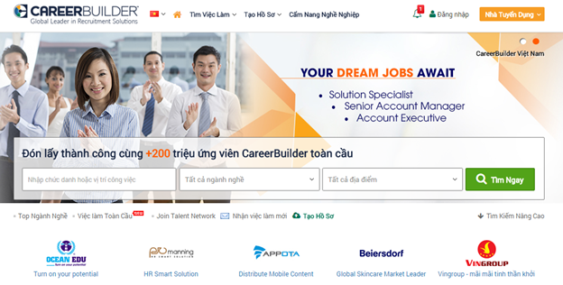 Website tuyển dụng Career Builder