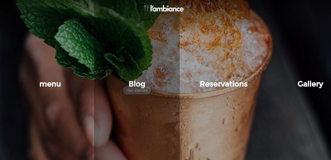 I'ambiance - mẫu giao diện website nhà hàng