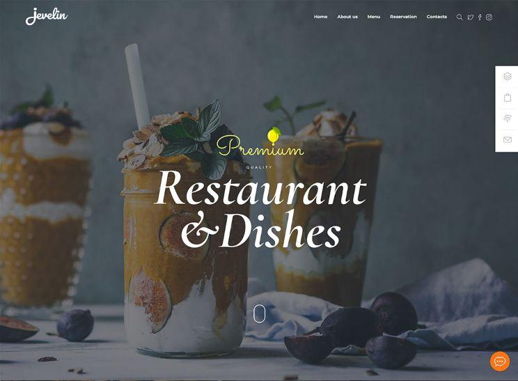 Kho mẫu giao diện website nhà hàng đẹp nhất 2019