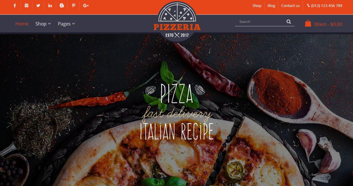 Foody - mẫu giao diện website nhà hàng và các món ăn nhanh