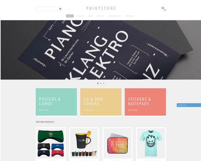 Online print shopify