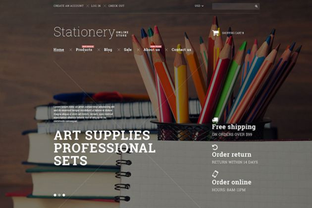 Stationery goods shopify