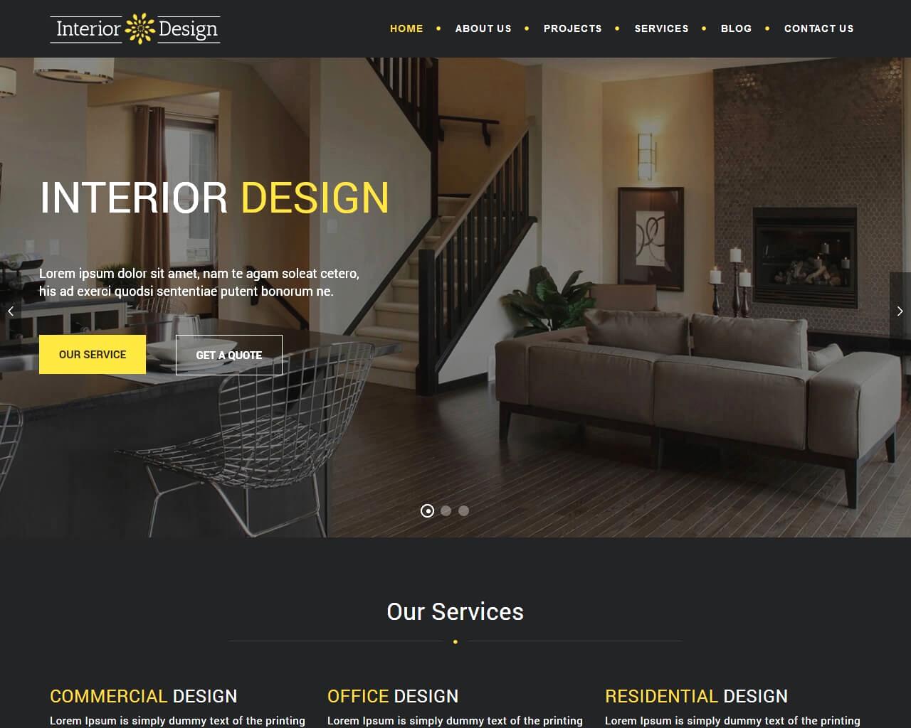 Interior Design Co là mẫu webiste nội thất sở hữu nhiều tính năng vượt trội.