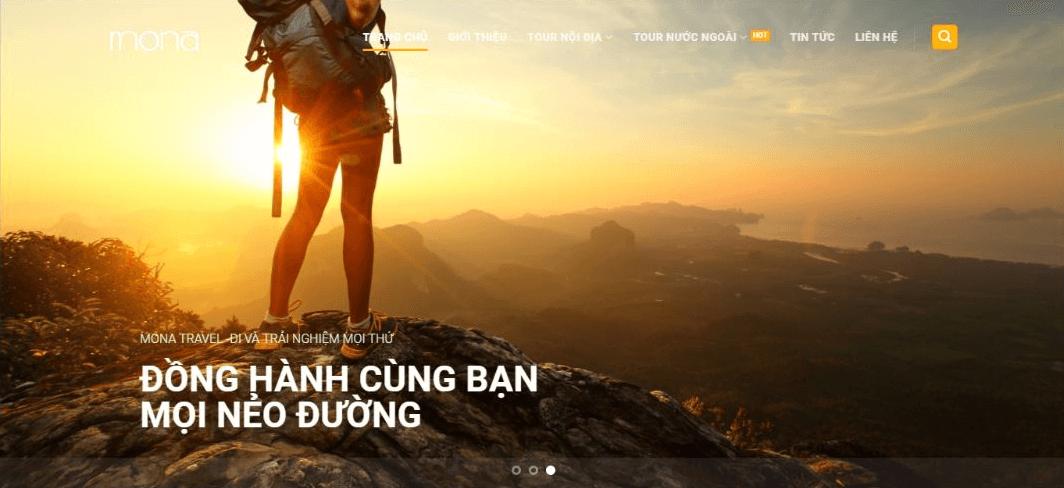 Mẫu website tour du lịch nội địa - quốc tế.