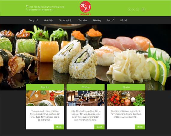 Thiết kế website nhà hàng chú trọng giao diện