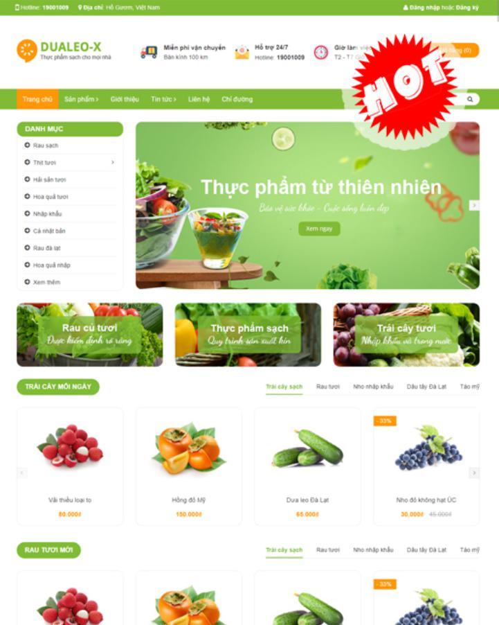 Mẫu website bán hàng đẹp Dualeo-X