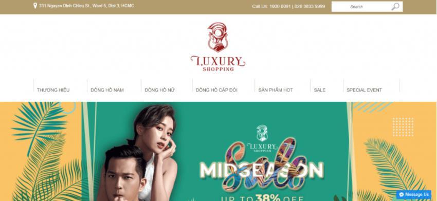 Mẫu website bán hàng đẹp Luxury