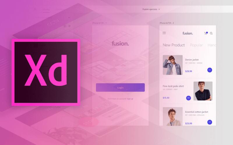 phần mềm thiết kế giao diện app adobe XD