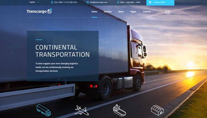 Mẫu website cho công ty nhập hàng - Transcargo