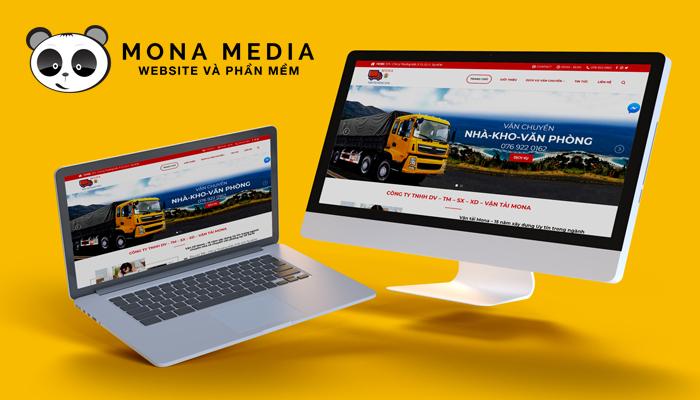 Mẫu website công ty vận tải của Mona Media